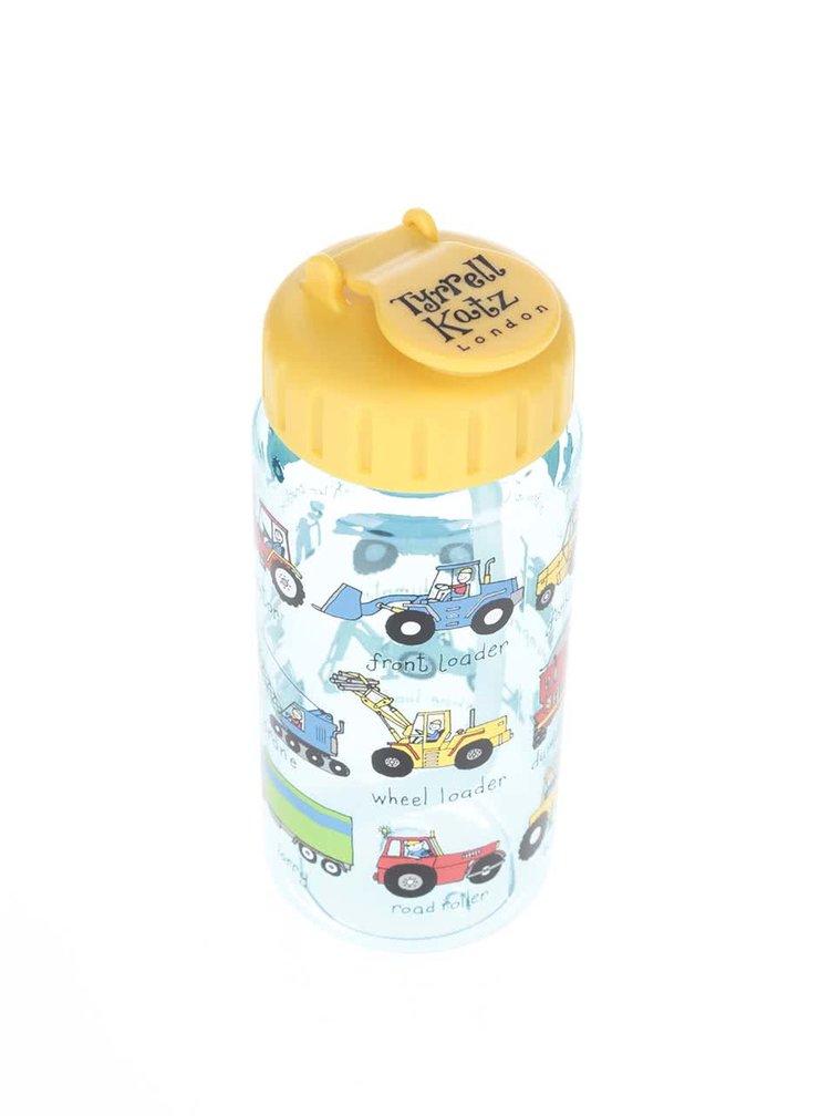 Žluto-Modrá klučičí láhev na pití Tyrrell Katz Working Wheels