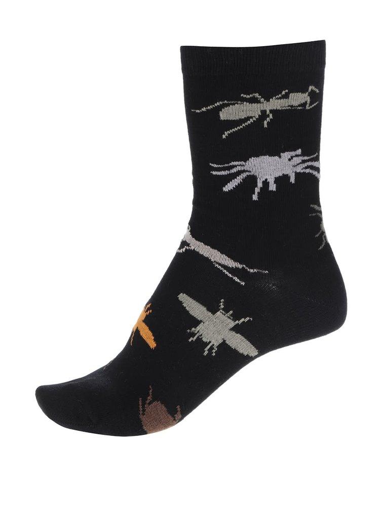Kolekcia troch čiernych pánskych/chlapčenských ponožiek s motívom hmyzu Oddsocks Bugs