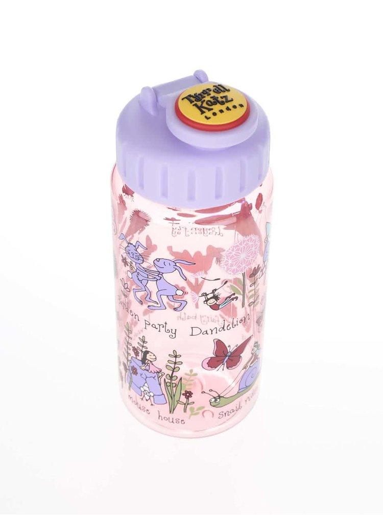 Ružová dievčenská fľaša na pitie Tyrrell Katz Secret Garden