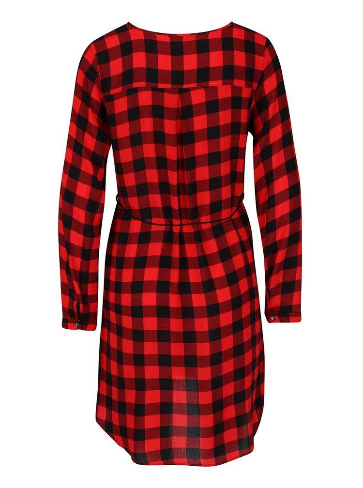 Čierno-červené kockované šaty Haily´s Cathrine