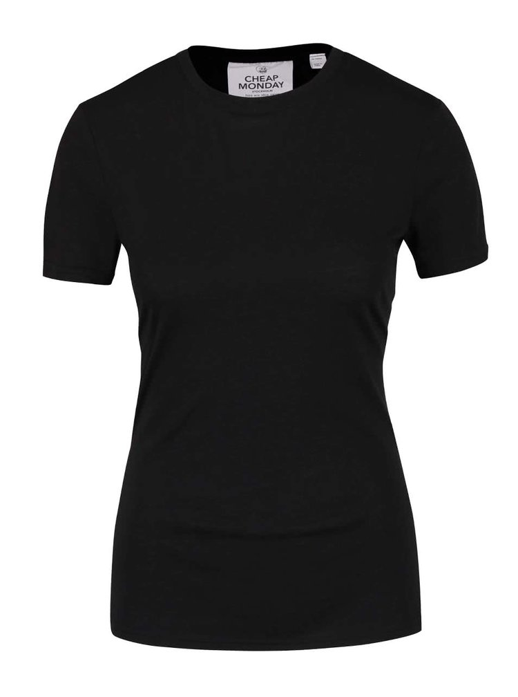 Tricou negru Cheap Monday Row