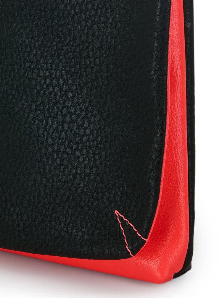 Geanta plic neagra Paul's Boutique Charlotte cu detalii roz inchis