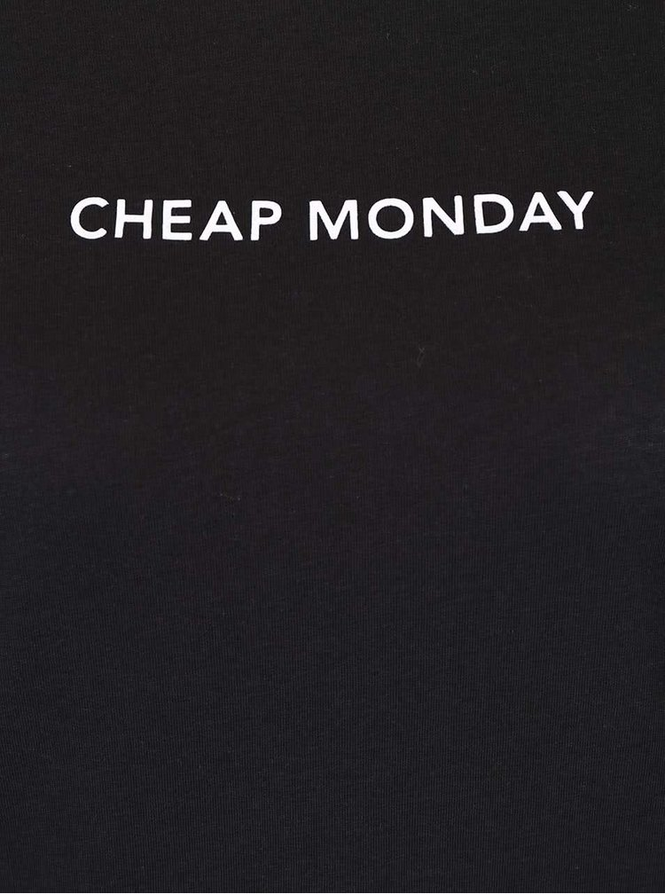 Tricou negru Cheap Monday Break cu text