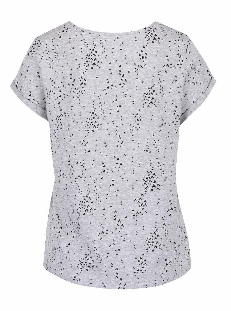Tricou gri QS by s.Oliver cu model discret pentru femei