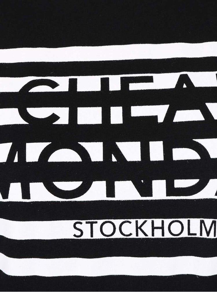 Rochie neagră Cheap Monday Capsule cu print