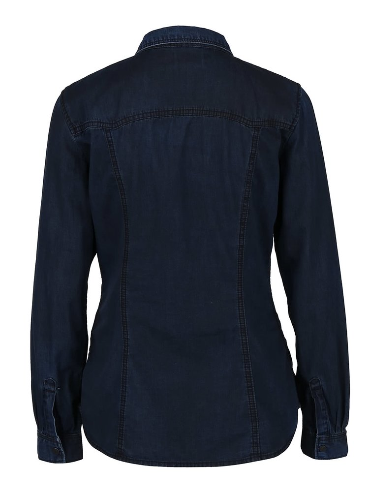 Tmavomodrá dámska rifľová košeľa QS by s.Oliver