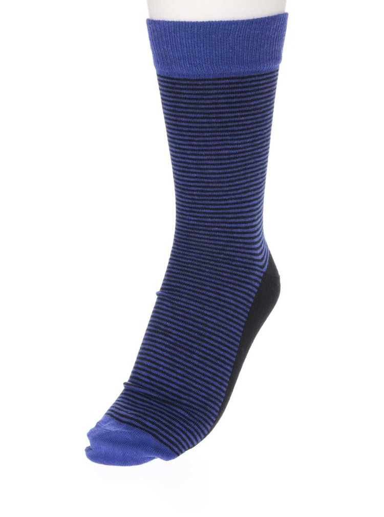 Set 6 șosete albastre&negre Oddsocks Suit cu model discret pentru bărbați