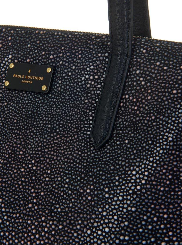 Geanta de mana neagra Paul's Boutique Gaby cu particule argintii