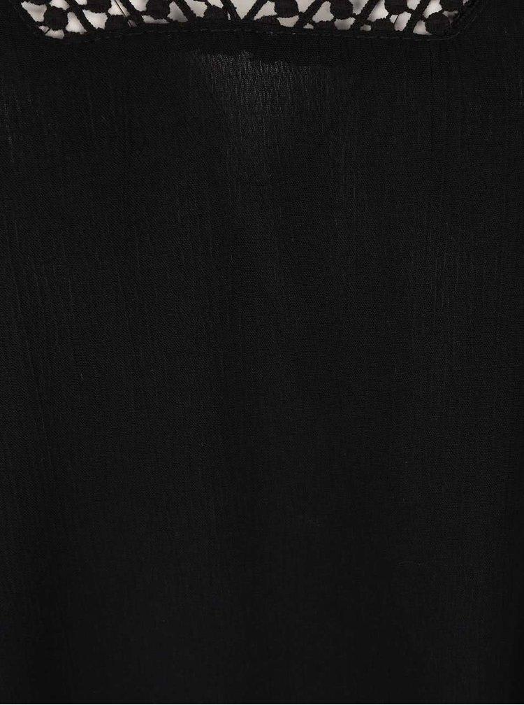 Černá halenka s krajkovaným výstřihem Haily´s Cathy