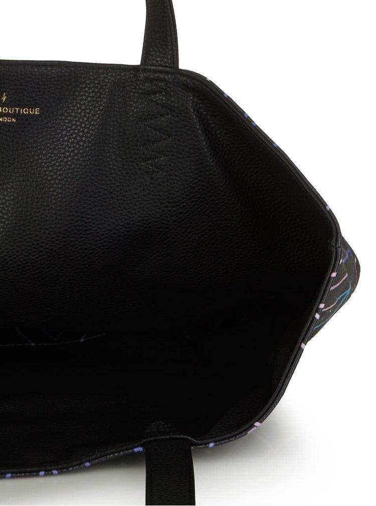 Černý oboustranný shopper s barevným vzorem Paul's Boutique Chloe