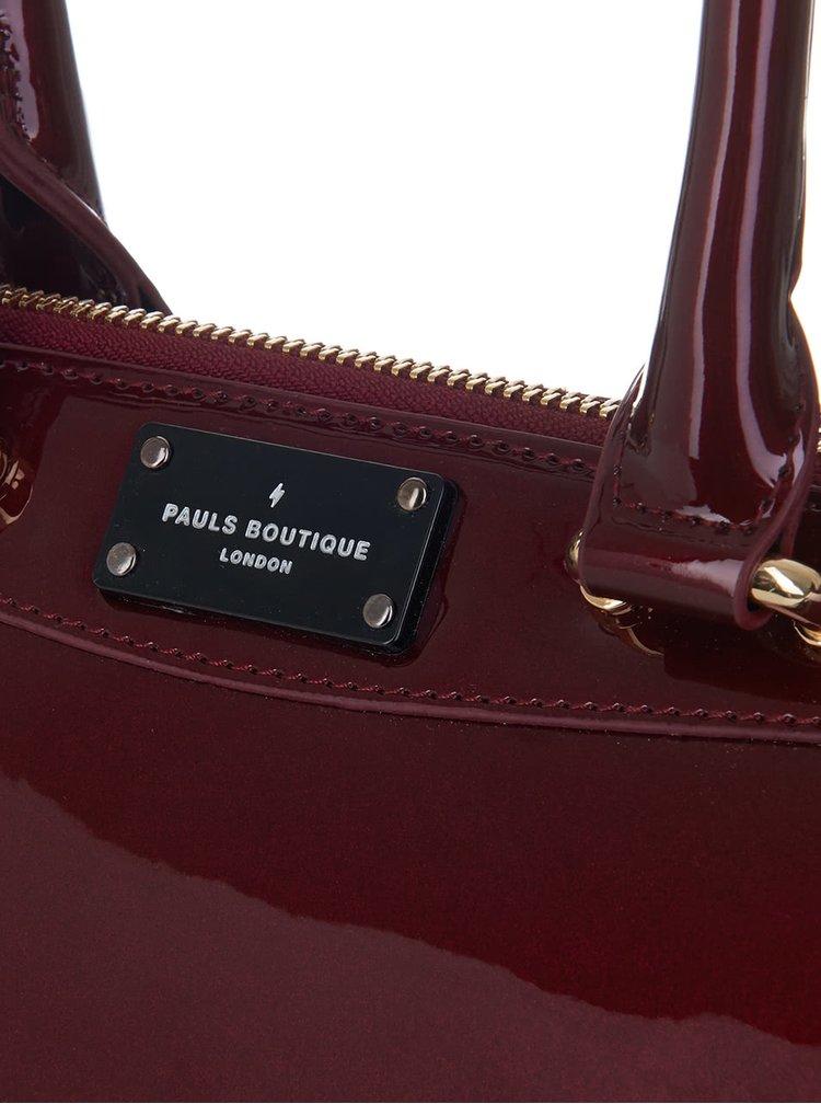 Vínová lesklá menšia kabelka Paul's Boutique Hunter
