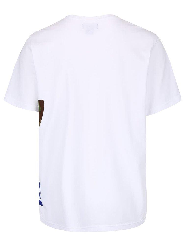 Tricou alb adidas Originals cu imprimeu