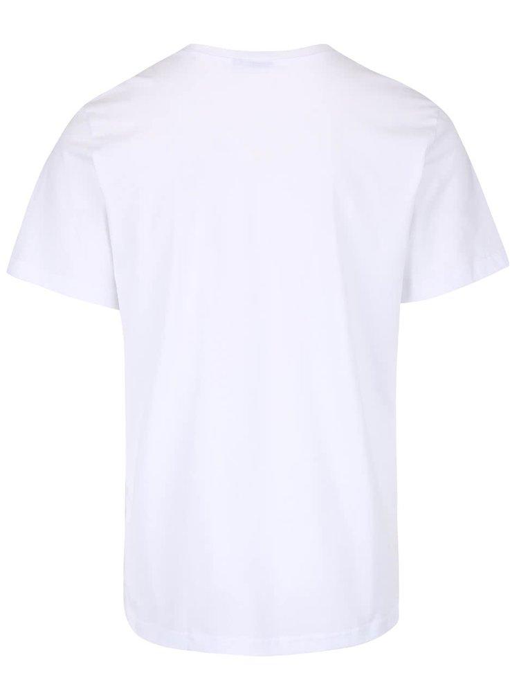 Biele pánske tričko s potlačou adidas Originals