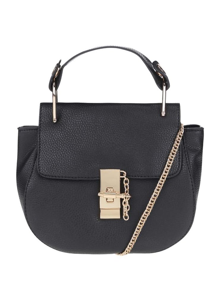 Černá menší kabelka s detaily ve zlaté barvě Haily´s Clara