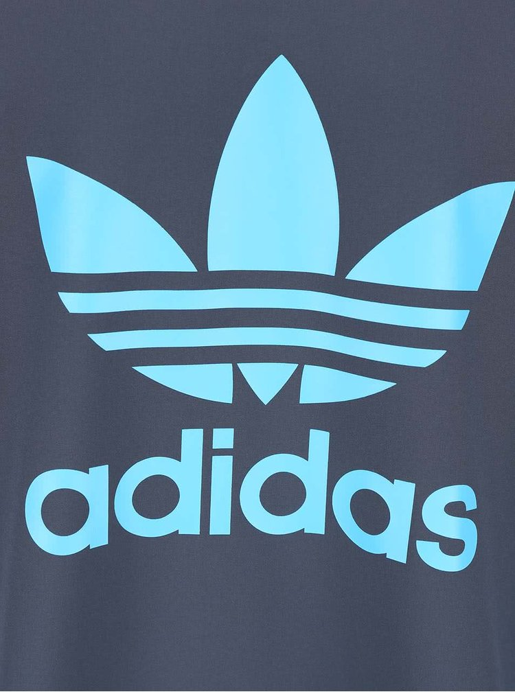 Modrošedá pánská mikina s logem adidas Originals