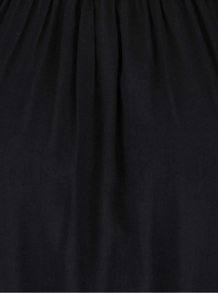 Černá volnější halenka s 3/4 rukávy Haily´s Adaline