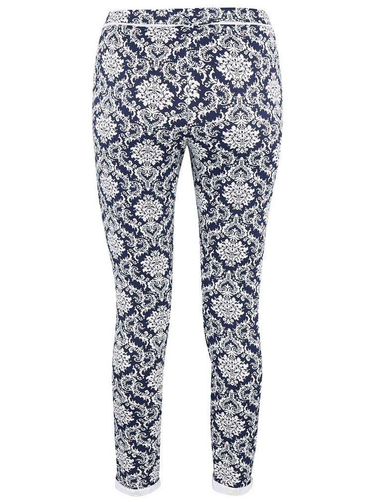 Bielo-modré vzorované teplákové nohavice Haily´s Jada