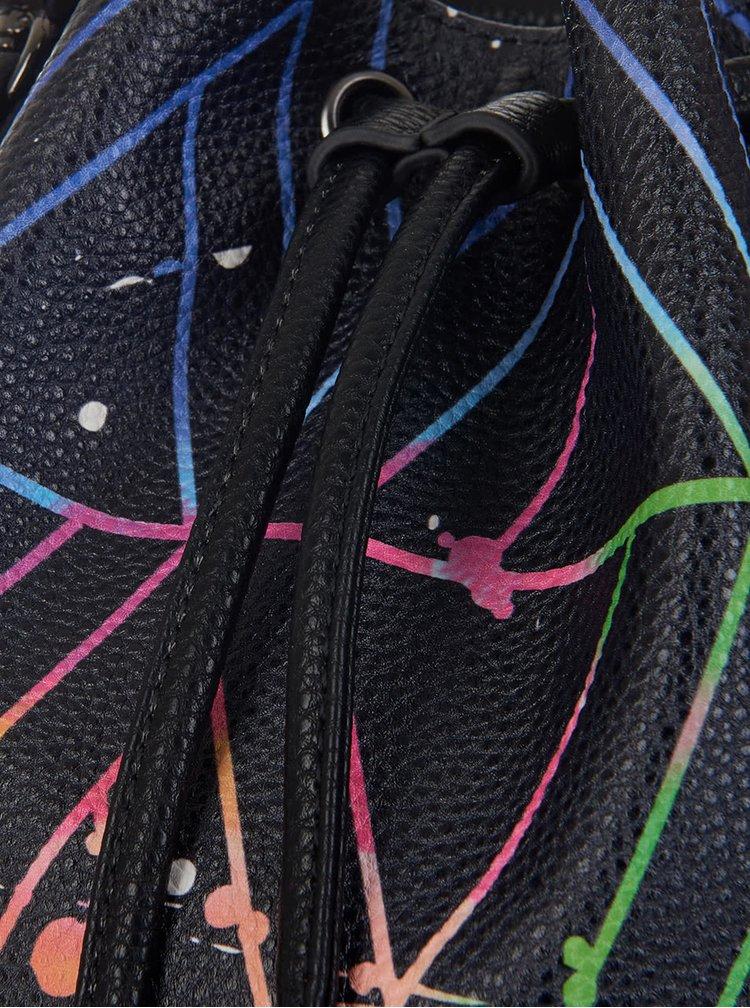 Geantă neagră cu imprimeu colorat Paul's Boutique Hattie