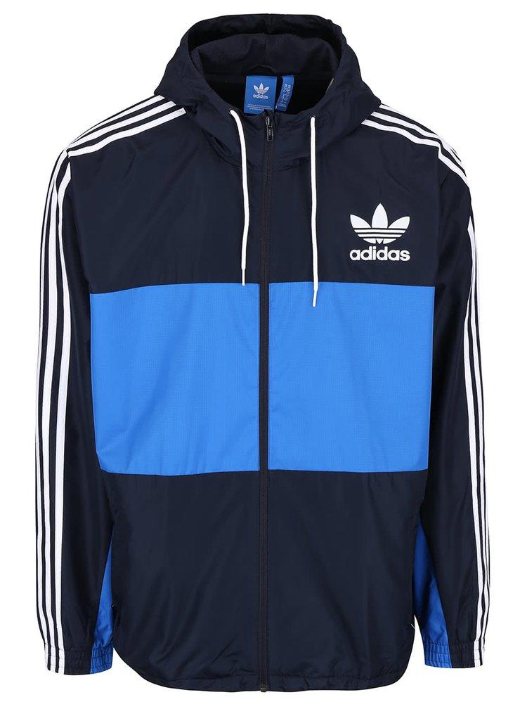 Modrá pánska bunda adidas s kapucňu Originals
