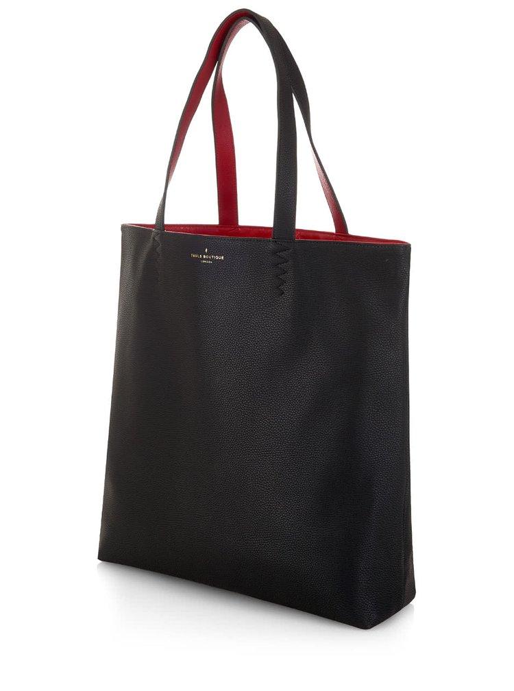 Červeno-černý oboustranný shopper Paul's Boutique Amelie