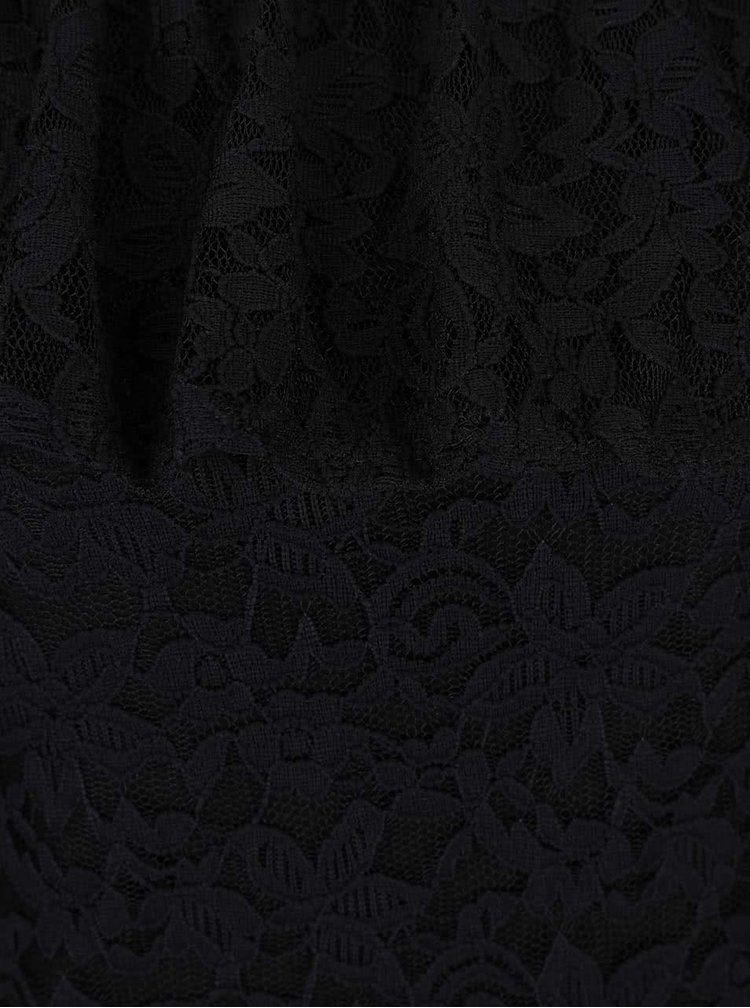 Čierna čipkovaná blúzka s volánom Haily´s Camilla