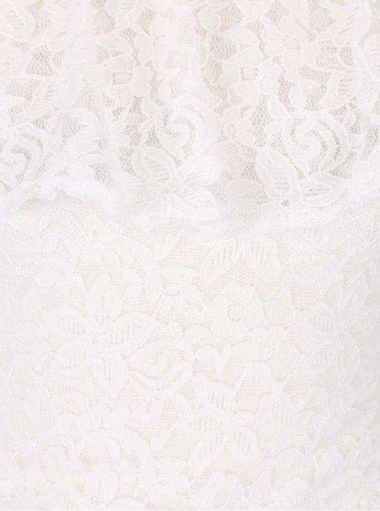 Bluza din dantela Haily´s Camilla cu umeri goi alba