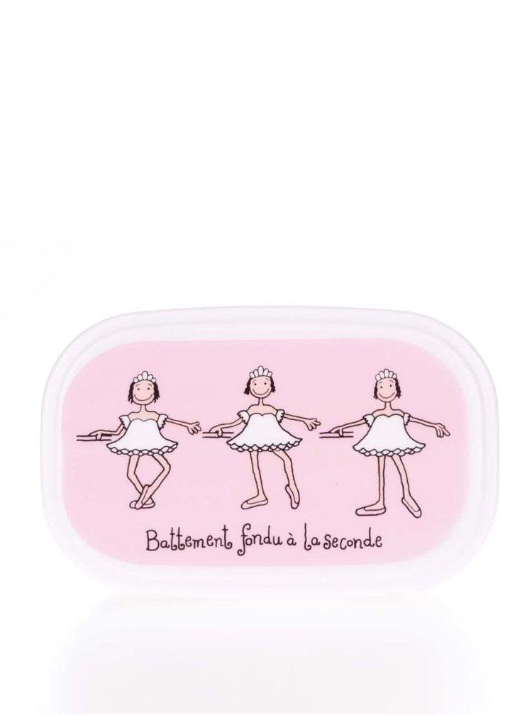 Sada tří růžových holčičích svačinových boxů Tyrrell Katz Ballet