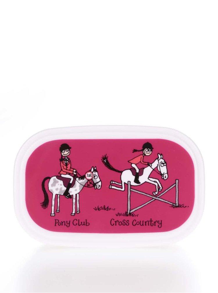 Sada tří růžových holčičích svačinových boxů  Tyrrell Katz Horses