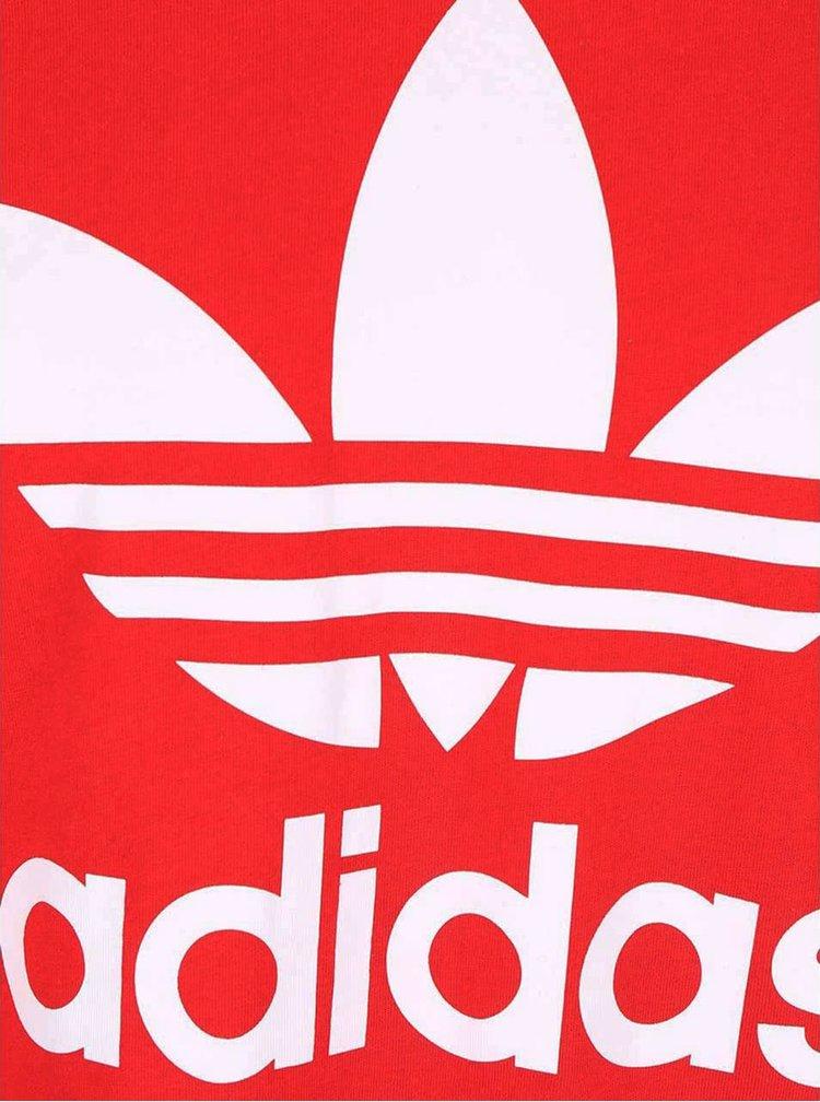 Červené pánské triko s potiskem adidas Originals