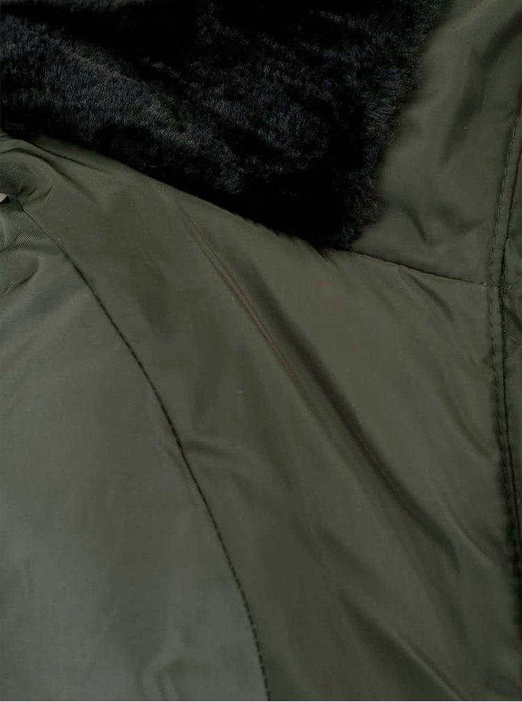 Geaca verde inchis VERO MODA Lulu cu guler inalt
