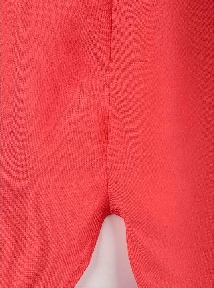 Červená voľnejšia blúzka s okrúhlym výstrihom VERO MODA Boca
