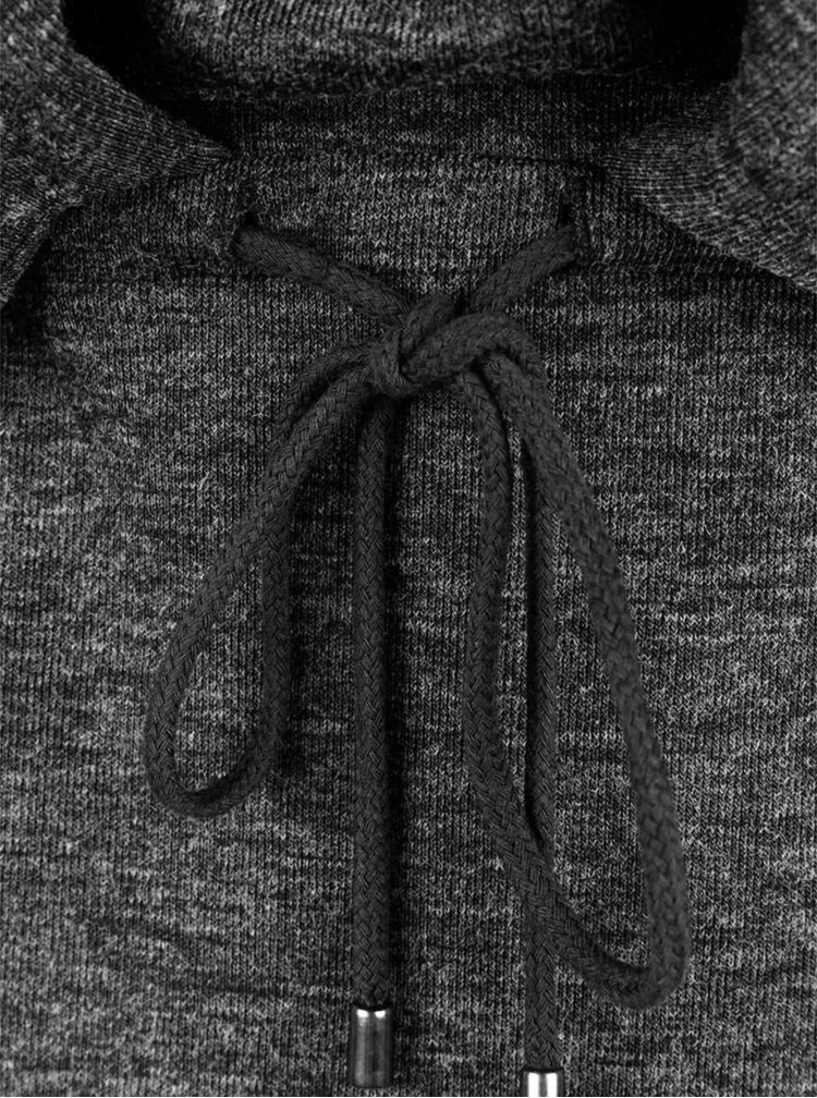 Tmavě šedé šaty s dlouhým rukávem VERO MODA Nora