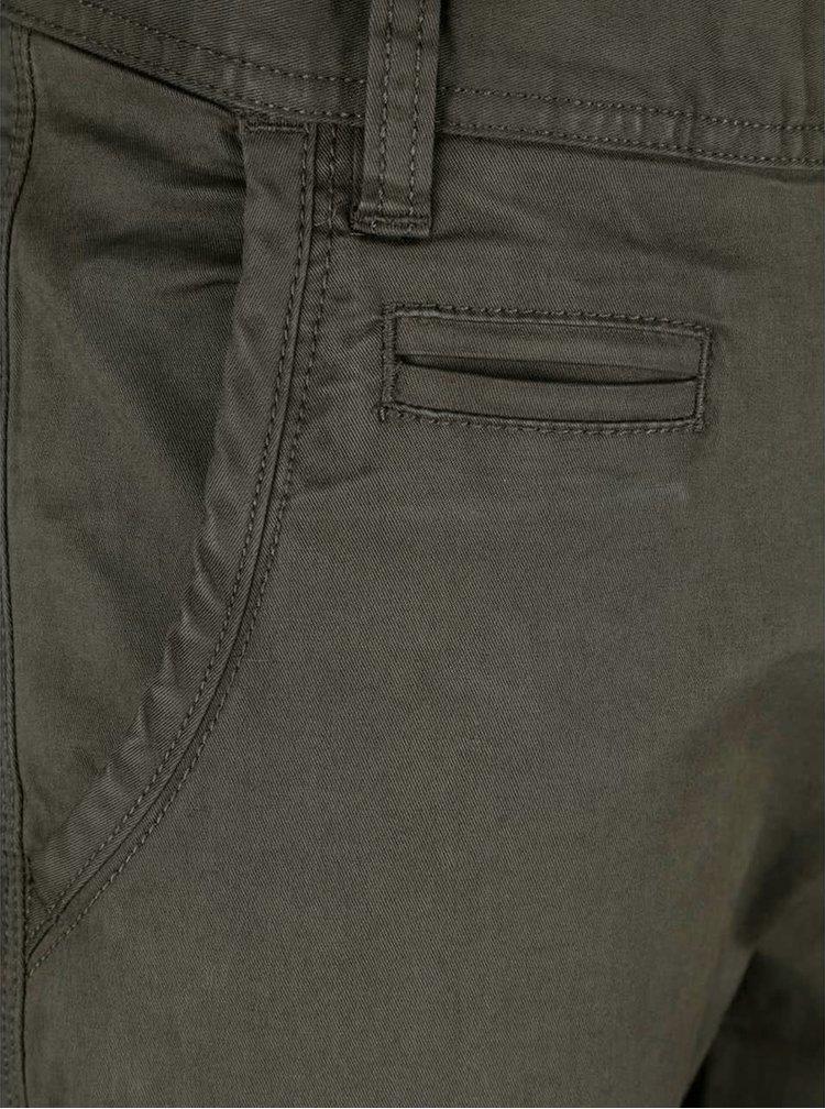 Tmavě zelené kalhoty Blend