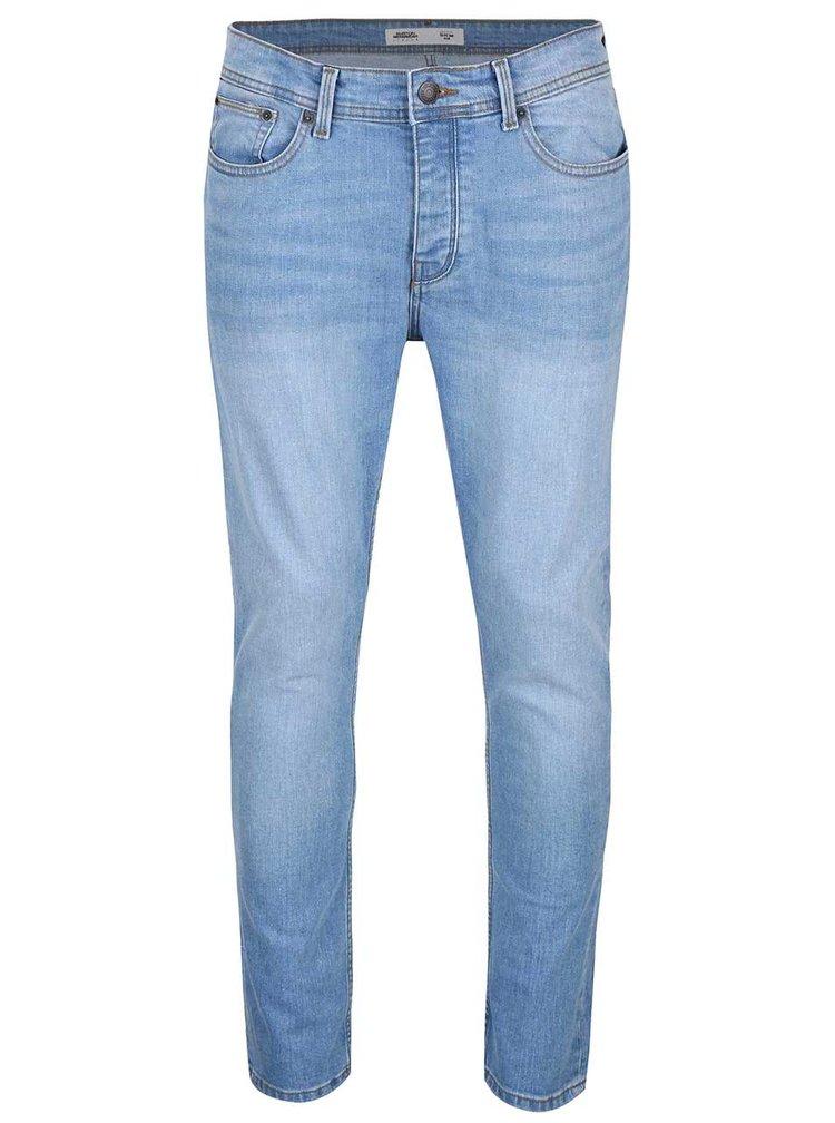 Modré džíny s ošoupaným efektem Burton Menswear London