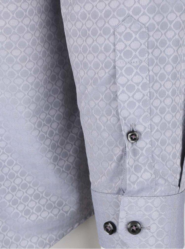 Cămașă gri Burton Menswear London cu imprimeu