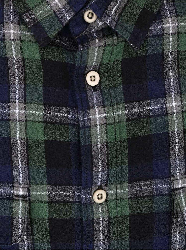 Camasa carouri Burton Menswear London verde cu albastru