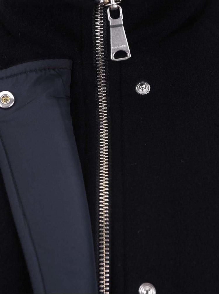 Tmavomodrý vlnený dámsky kabát GANT
