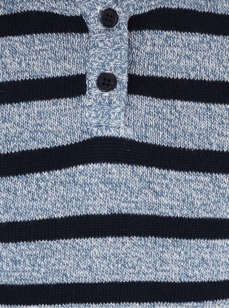 Hanorac gri & albastru Blue Seven cu model în dungi pentru băieți