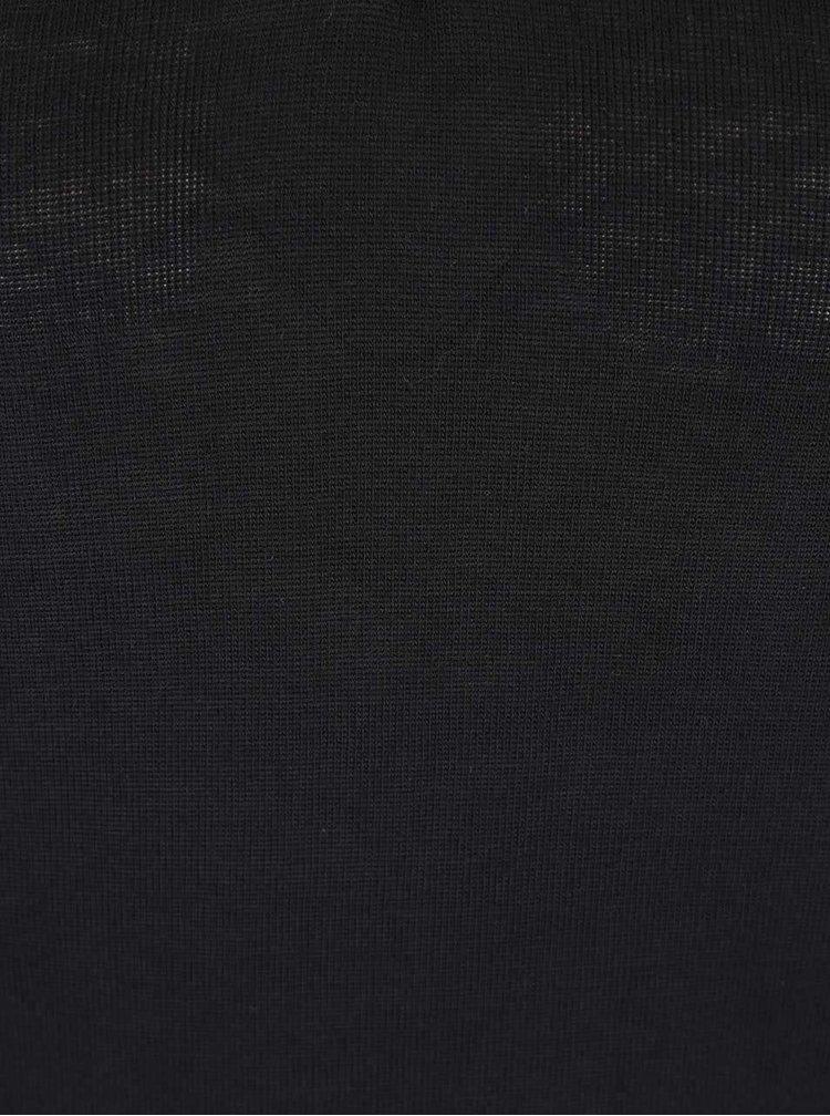 Černé tričko s pásky v dekoltu a dlouhým rukávem Haily´s Kira