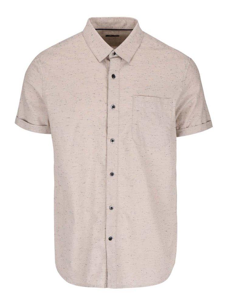 Béžová košile s krátkým rukávem Burton Menswear London