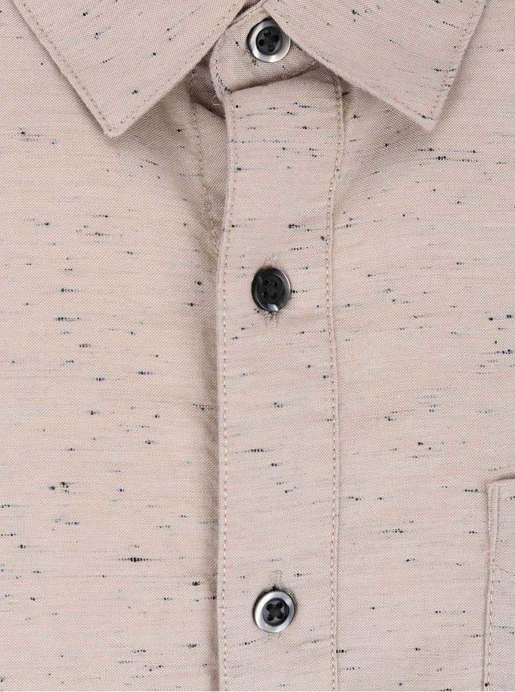 Cămașă bej Burton Menswear London  cu mânecă scurtă