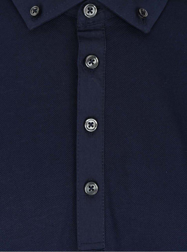 Modrá polokošeľa Burton Menswear London