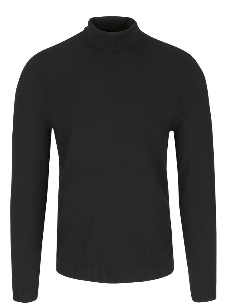 Čierny rolákový sveter Burton Menswear London