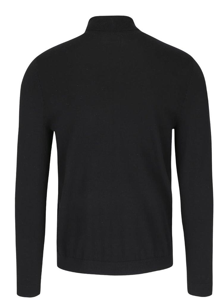 Černý rolákový svetr Burton Menswear London
