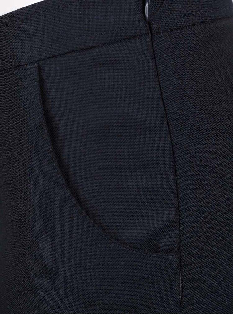 Tmavě modrá vlněná áčková sukně GANT