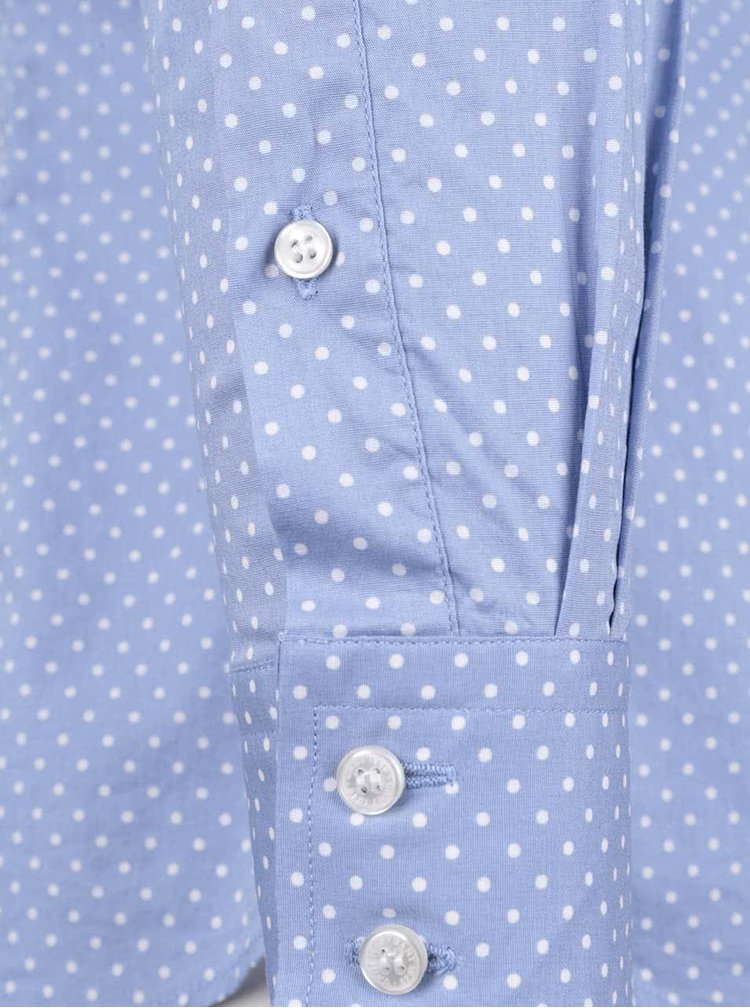 Svetlomodrá dámska košeľa s bodkami GANT