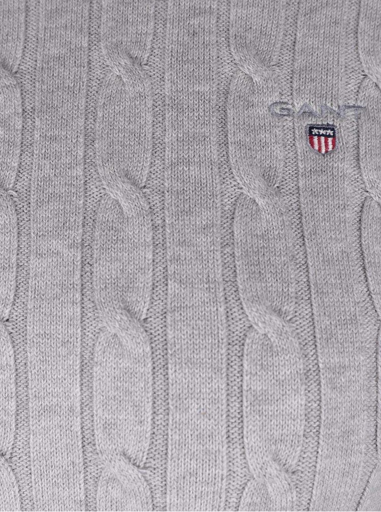 Sivý melírovaný dámsky sveter GANT