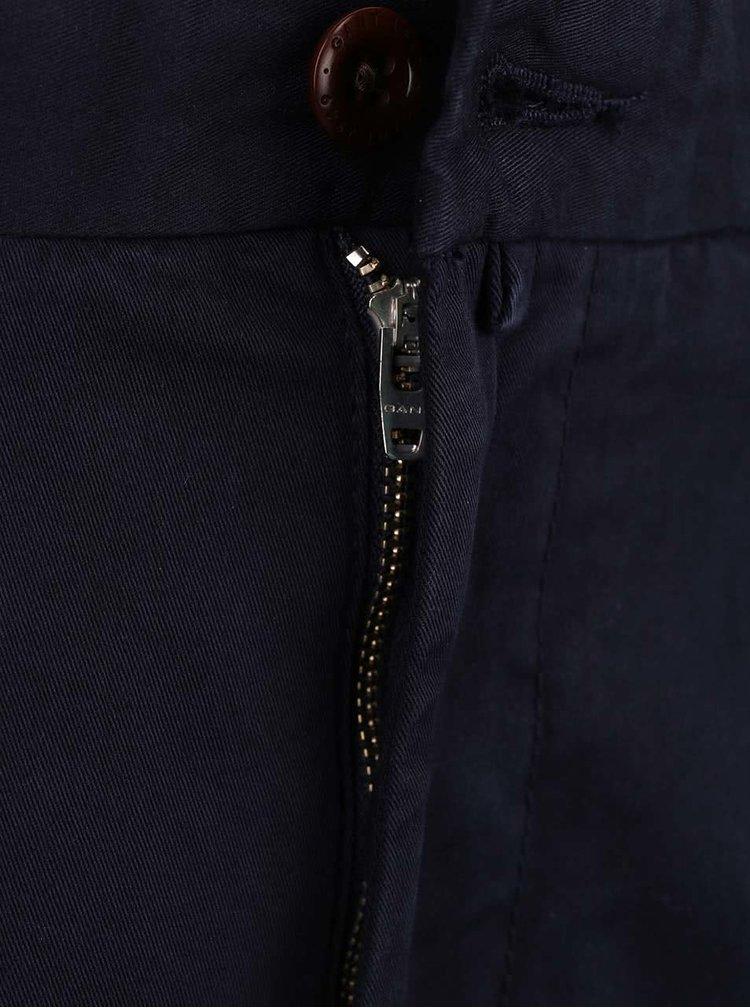 Tmavě modré pánské slim chinos kalhoty GANT