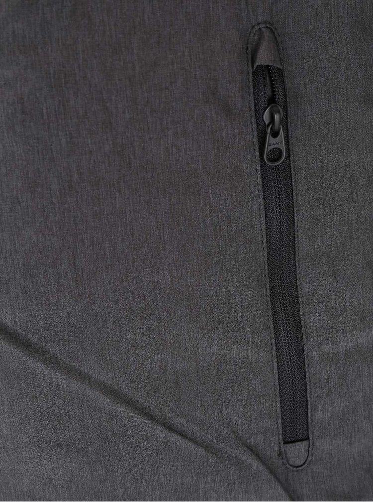 Zelenošedá pánská prošívaná bunda na zip GANT