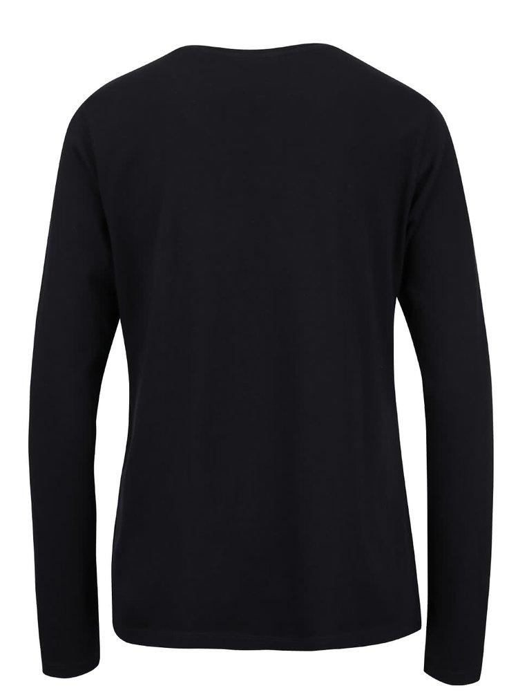 Černé dámské tričko s potiskem GANT